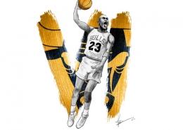 Tableau digital painting Michael Jordan
