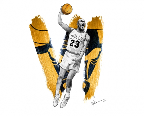 Tableau digital painting Michael Jordan