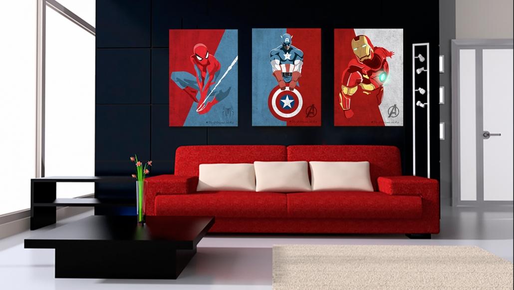 triptyque Marvel David Gomez del RIo artiste